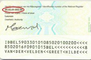 rijksregisternummer